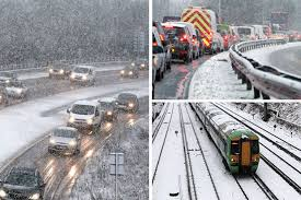 uk weather travel with snow on roads daily