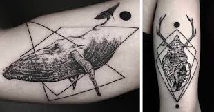 geometric tattoos by turkish artist okan uçkun bored panda