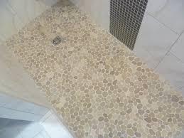 pebble floor bathroom contemporary bathroom indianapolis