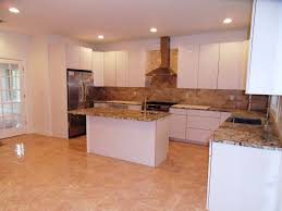 modern kitchen with flush u0026 limestone tile in edgewater nj