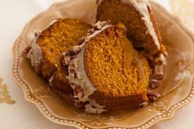 pumpkin bundt cake with brown sugar glaze pecans thanksgiving