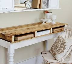 fabriquer bureau diy meuble en palette bureau style scandinave très facile à