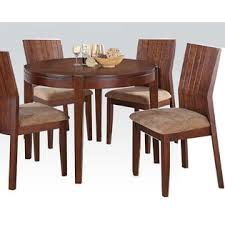 Acme Dining Room Furniture Acme United Dining Room Furniture 5pcs Dining Set In Dark Brown