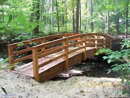 backyard bridges backyard bridges inspirational garden bridges 4 52ft long elegant