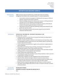 Sample Esthetician Resume New Graduate Resume Samples For Estheticians Beautician Resume Samples Hair