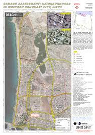 Map Of Benghazi Damage Assessment Neighborhoods In Western Benghazi City Libya