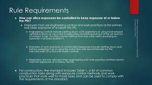 osha silica rule table 1 respirable crystalline silica ppt download