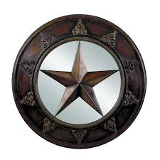 million dollar 14 m 75718 texas star round wall mirror rustic