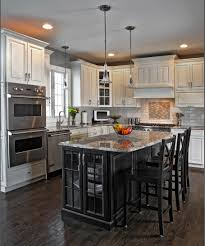 Black Kitchen Island Would A Small Kitchen Look Good With Black Cabinets