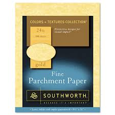Buy Resume Southworth Parchment Specialty Paper Gold 24lb 8 1 2 X 11 100
