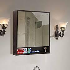 klaxon decor wooden bathroom mirror cabinet double door 600 150
