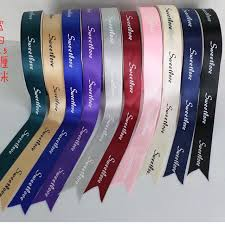 customized ribbon 1000pcs roll customized design polyester silk print labels