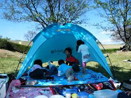 backyard or campground camping is good family fun