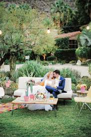 Palm Springs Outdoor Furniture by Colorful Modern Palm Springs Wedding Ruffled