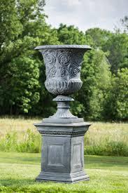 kenroy home in roman white garden ornament tall urn planter for