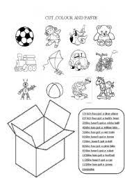 worksheet cut colour paste toys
