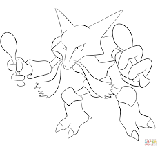 alakazam coloring page free printable coloring pages