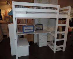 lit surélevé avec bureau lit mezzanine avec bureau et rangements verona inakis