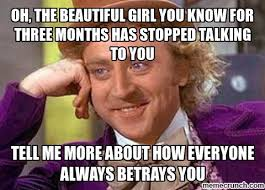 Talking Meme - the beautiful girl you know for three months has stopped talking