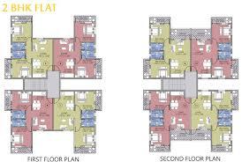 2bhk floor plans goka engineering gold valley konkan dapoli floor plans