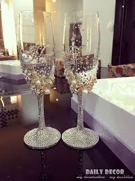 personalized glasses wedding personalized high quality luxury no lead rhinestone chagne cup
