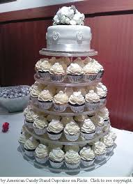 wedding cake and cupcake ideas cupcake wedding cake