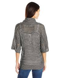 oneworld women u0027s pullover cowl neck marled yarn sweater at amazon