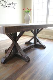 How To Build A Dining Room Table Plans by Restoration Hardware Inspired Dining Table For 110 Shanty 2 Chic