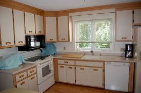 awesome white kitchen cabinets with oak trim taste