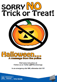 halloween signs for no trick or treat u2013 fun for halloween