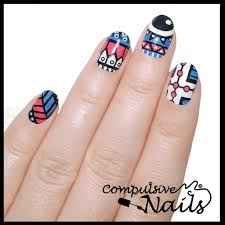 blue aztec eyes nail wraps nail stickers hand painted nail