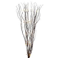pre lit branches led willow brown bundle pier 1 imports