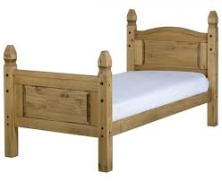 corona single mexican pine high foot end bed frame