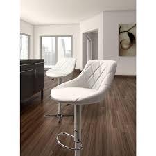 Zuo Modern Bar Table Zuo Devilin Adjustable Height Chrome Cushioned Bar Stool 301367