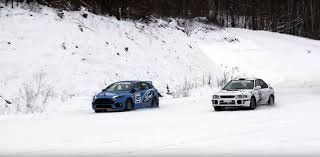 subaru winter 2016 ford focus rs pitted against rally grade subaru impreza sti