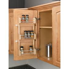 Kitchen Cabinet Door Spice Rack Shop Rev A Shelf Wood In Cabinet Spice Rack At Lowes