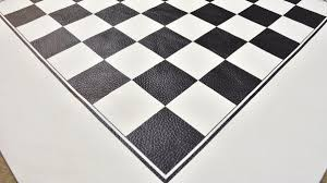 genuine wide leather roll up chess board in black u0026 off white