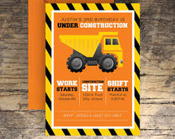 instant download under construction birthday party