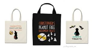 personalized trick or treat bags food allergy bags lil allergy advocates