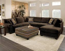 Albany Sectional Sofa Attractive Chocolate Brown Sectional Sofa With Chaise 34 In Black