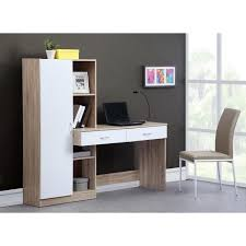 bureau cdiscount optim bureau 160 x 45 8 x 147 5 cm chêne achat vente bureau