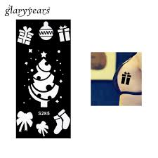 Stencil Albero by Wholesale Henna Tattoo Stencil Gift Box Socks Christmas Tree