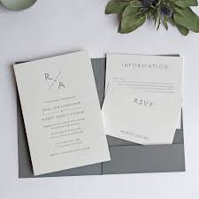 pocket fold monogram pocketfold letterpress wedding invitation by wolf ink