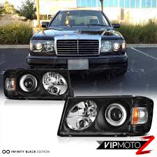 86 93 w124 black projector headlight m benz e class 300e headlamp