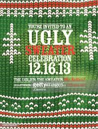 the ugly sweater holiday party celebration invitation design
