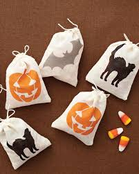 martha stewart craft paint halloween treat bags martha stewart