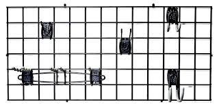 Office Wall Organizing System Amazon Com Organized Living Activity Organizer Wire Grid 48 Inch