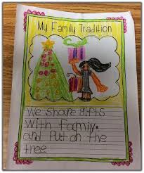students write about their family tradition would be a great take