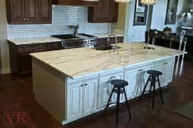 kitchen island countertop calcutta gold marble kitchen yk center fabrication in