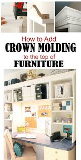How To Install Crown Molding On Top Of Kitchen Cabinets Remodelando La Casa Adding Crown Molding To The Top Of Bookcases